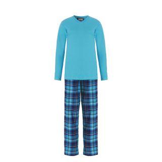 Ten Cate dames pyjama Turquoise/ruit